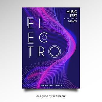 Abstracte elektronische muziekaffiche