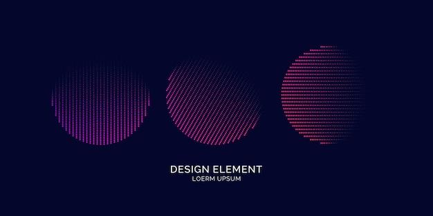 Abstracte elementen met dynamische lijnen en deeltjes. vectorillustratie in platte minimalistische stijl