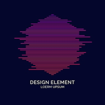 Abstracte elementen met dynamische lijnen. vectorillustratie in platte minimalistische stijl