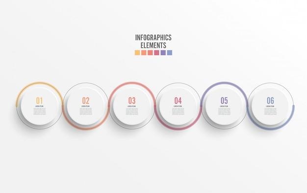 Abstracte elementen van infographic sjabloon