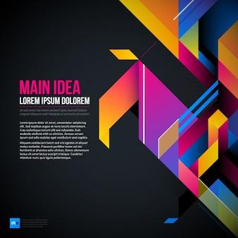 Abstracte en geometrische achtergrond, 3d-stijl