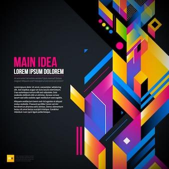 Abstracte en geometrische achtergrond, kleurrijke stijl