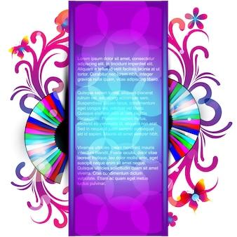 Abstracte eps10 kleurrijke achtergrond ontwerp