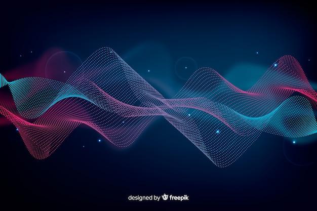 Abstracte equalizer deeltje golven achtergrond