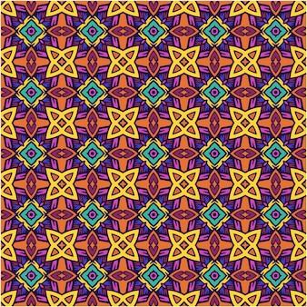 Abstracte etnische naadloze patroonachtergrond