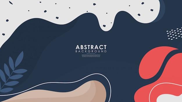Abstracte exotische collectie van trendy achtergrond