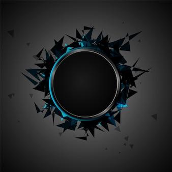 Abstracte explosie van zwart glas