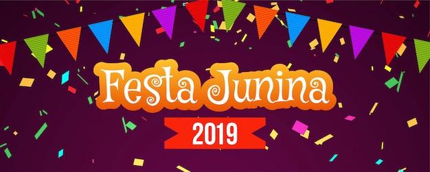 Abstracte festa junina-festivalbanner