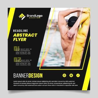 Abstracte flyer met zwemmer