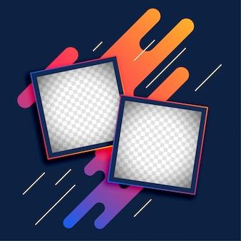 Abstracte fotolijstlay-out voor geheugenboek
