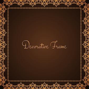 Abstracte frame ontwerp bruine vector achtergrond