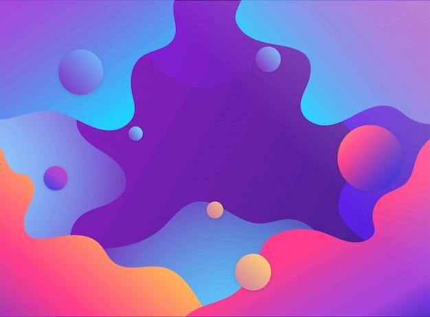 Abstracte futuristische achtergrond met kleurovergang met vloeibare en vloeibare vormen