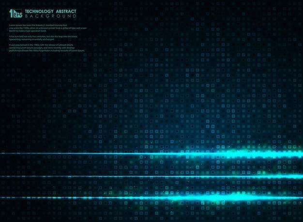 Abstracte futuristische blauwe vierkante achtergrond