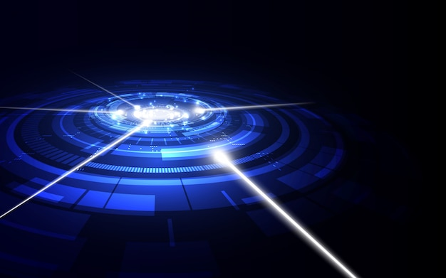 Abstracte futuristische digitale technische achtergrond.