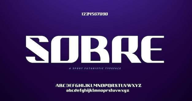 Abstracte futuristische digitale technologie moderne alfabet lettertypen