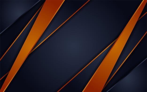 Abstracte futuristische donkergrijze achtergrond gecombineerd met oranje elementencombinatie
