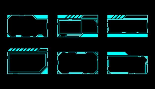Abstracte futuristische frames