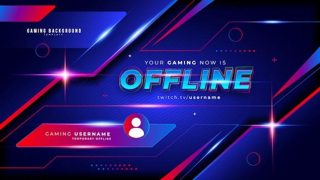 Abstracte futuristische gaming-achtergrond voor offline twitch-stream