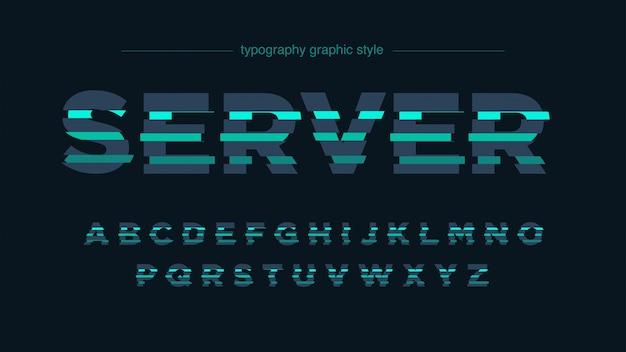 Abstracte futuristische gesneden groene typografie