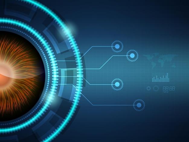 Abstracte futuristische hud display interface sci fi technologie achtergrond vectorillustratie