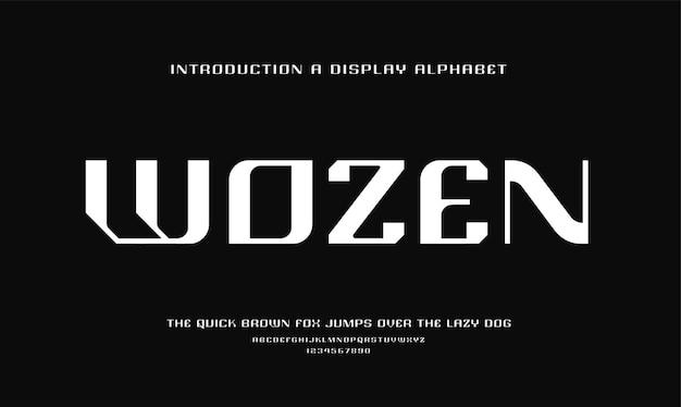 Abstracte futuristische moderne technologie. moderne alfabet lettertypen