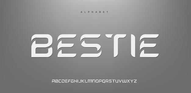 Abstracte futuristische moderne technologie. moderne alfabetlettertypen