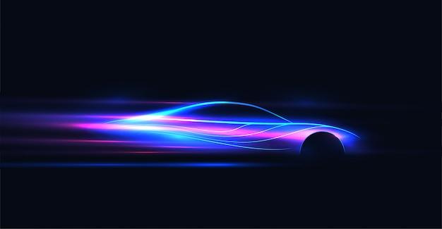 Abstracte futuristische neon gloeiende illustratie