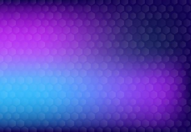Abstracte futuristische ontwerpachtergrond met het hexagonale kunstwerk van het patroonontwerp.