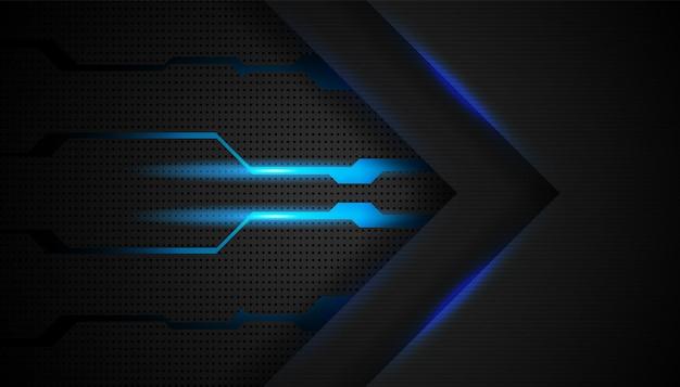 Abstracte futuristische pijlbeweging met glanzend blauw licht bacgrkound.