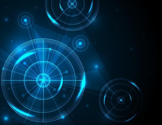 Abstracte futuristische radar