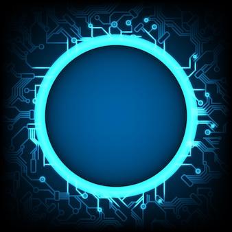 Abstracte futuristische technische achtergrond, cybertechnologiebeveiliging