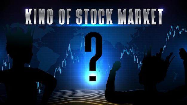 Abstracte futuristische technische achtergrond van koning van de aandelenmarkt