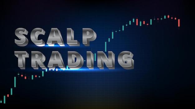 Abstracte futuristische technologieachtergrond van scalp trading met aandelenmarkt en grafiekgrafiek