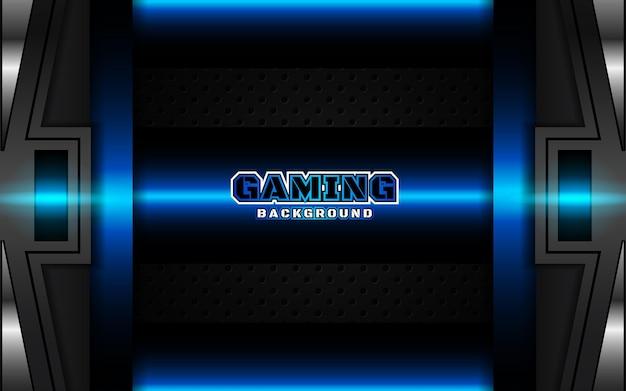 Abstracte futuristische zwarte en lichtblauwe gaming-achtergrond