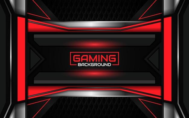 Abstracte futuristische zwarte en lichtrode gaming-achtergrond