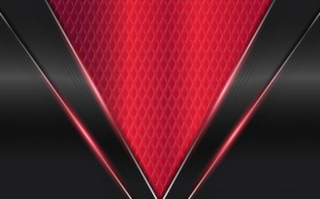 Abstracte futuristische zwarte en rode achtergrond