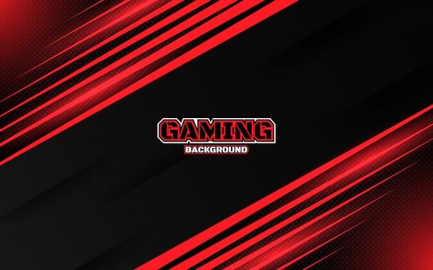 Abstracte futuristische zwarte en rode gaming achtergrond