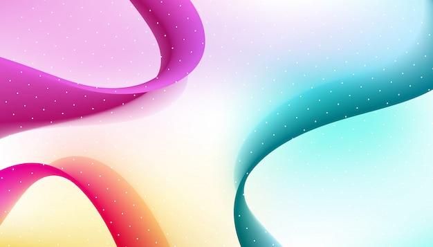 Abstracte gebogen purples en blauwe lijnenachtergrond.