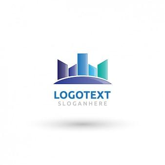 Abstracte gebouwen logo