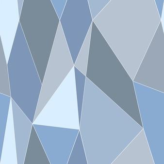 Abstracte gebrandschilderd glas stijl naadloze patroon. veelhoekig laag polypatroon. vector illustratie.