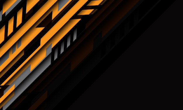 Abstracte geel grijze geometrische cyber futuristische technologie met lege ruimte ontwerp moderne achtergrond.