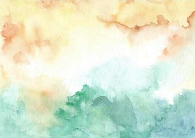 Abstracte geelgroene textuur aquarel achtergrond