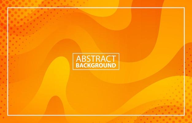 Abstracte gele achtergrond met halftoon effect