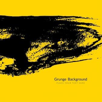 Abstracte gele achtergrond met zwarte grunge