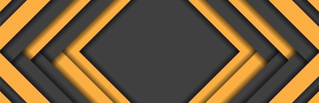 Abstracte gele en donkergrijze strepen metaalachtergrond