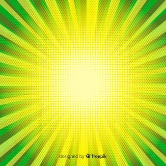 Abstracte gele en groene halftone achtergrond