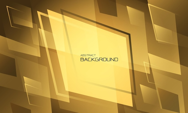 Abstracte gele geometrische ontwerp creatieve technologie futuristische achtergrond vectorillustratie