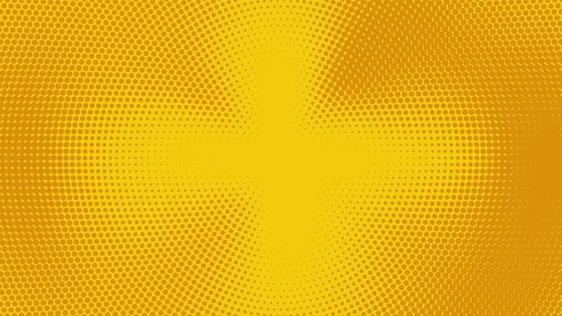 Abstracte gele halftone brede elegante achtergrond