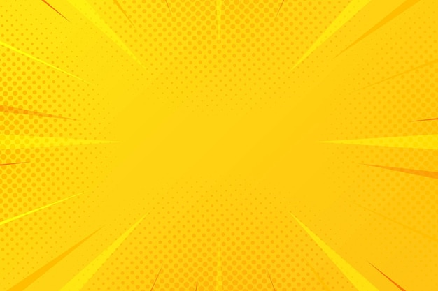 Abstracte gele halftone komische zoomachtergrond