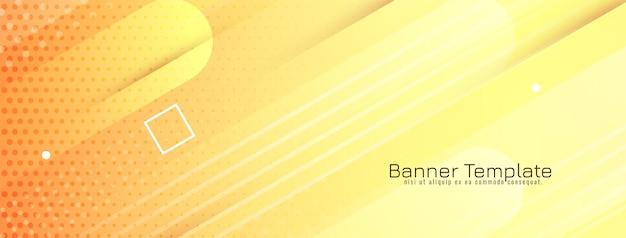 Abstracte gele kleur moderne geometrische achtergrond vector